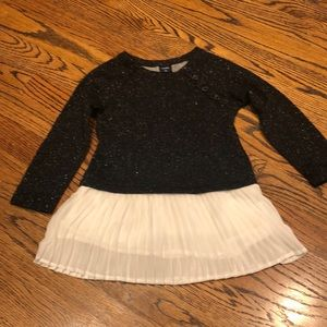 Girls Gap black sparkle tunic dress